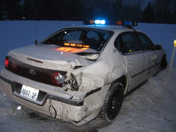 Crashed Law Enforcement Vehicle