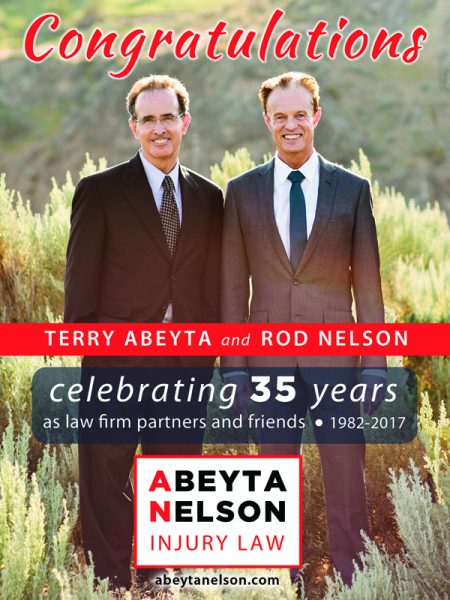 Central Washington Personal Injury Attorneys Terry Abeyta and Rod Nelson Celebrate 35 Years as Law Partners